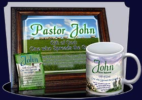 PC-AN02, Name Meaning Card, Wallet Sized, with Bible Verse sheep flock lambs shepherd john