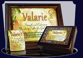 PC-BF18, Name Meaning Card, Wallet Sized, with Bible Verse fairy fairytale storybook lamp light butterfly valarie