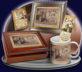 PC-CA01, Name Meaning Card, Wallet Sized, with Bible Verse erik boy scouts stamp collecting