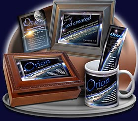 PC-CR02, Name Meaning Card, Wallet Sized, with Bible Verse, personalized, space planet Orion