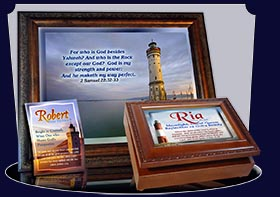 PC-LH35, Name Meaning Card, Wallet Sized, with Bible Verse, personalized, lighthouse light ria