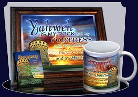 PC-SC02, Name Meaning Card, Wallet Sized, with Bible Verse, personalized, scenery castle keep Greggory