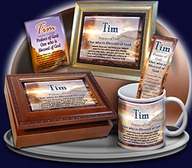 PC-SC23, Name Meaning Card, Wallet Sized, with Bible Verse, personalized, tim, western, sunset