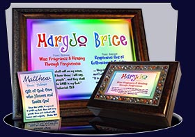 PC-SM10, Name Meaning Card, Wallet Sized, with Bible Verse, personalized, baby name, rainbow, maryjo