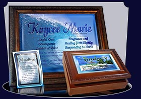 PC-WA09, Name Meaning Card, Wallet Sized, with Bible Verse, personalized, lindsey palm trees vacation beach sand